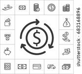 exchange. thin line money icon...   Shutterstock .eps vector #683168896