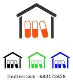drugs garage vector pictogram.... | Shutterstock .eps vector #683172628