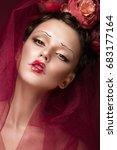 beautiful girl with art... | Shutterstock . vector #683177164