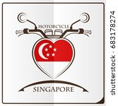 motorcycle logo made from the... | Shutterstock .eps vector #683178274