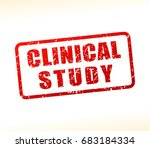 illustration of clinical study... | Shutterstock .eps vector #683184334