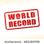 illustration of world record... | Shutterstock .eps vector #683184598