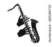 the saxophonist plays the... | Shutterstock .eps vector #683186710