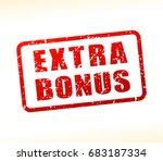 illustration of bonus text... | Shutterstock .eps vector #683187334