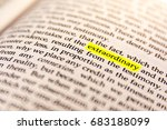 book highlighted word yellow... | Shutterstock . vector #683188099