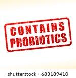 illustration of probiotics... | Shutterstock .eps vector #683189410