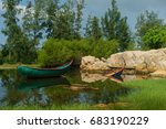boat on the lake | Shutterstock . vector #683190229