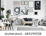 spacious cozy lounge designed... | Shutterstock . vector #683190538