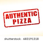 illustration of authentic pizza ... | Shutterstock .eps vector #683191318