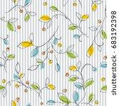 leaf illustration pattern | Shutterstock .eps vector #683192398