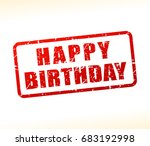 illustration of happy birthday... | Shutterstock .eps vector #683192998