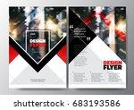 minimal modern poster brochure... | Shutterstock .eps vector #683193586