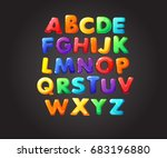 Colorful jelly alphabets for kids. Isolated vector illustration  | Shutterstock vector #683196880