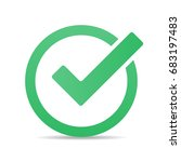 green tick checkbox vector... | Shutterstock .eps vector #683197483