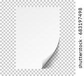 white sheet of paper.realistic... | Shutterstock .eps vector #683197498