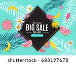 summer sale abstract banner... | Shutterstock .eps vector #683197678