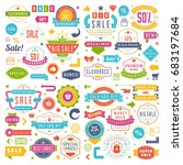 sale badges and tags design... | Shutterstock .eps vector #683197684