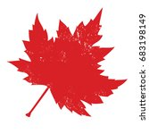red maple leaf isolate | Shutterstock .eps vector #683198149