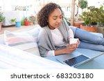 beautiful african american... | Shutterstock . vector #683203180