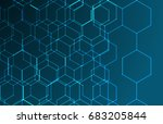 geometric texture. line pattern.... | Shutterstock .eps vector #683205844