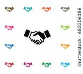 isolated partnership icon.... | Shutterstock .eps vector #683206186