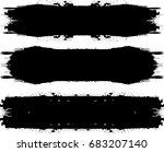 grunge paint stripe . vector... | Shutterstock .eps vector #683207140