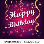 happy birthday cartoon | Shutterstock .eps vector #683210419