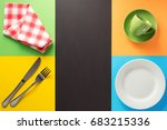 kitchenware at abstract... | Shutterstock . vector #683215336
