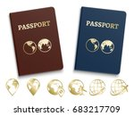 passports international id and... | Shutterstock .eps vector #683217709