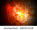 red abstract background as hell | Shutterstock . vector #683221318