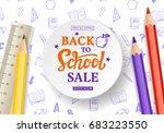 back to school sale banner... | Shutterstock .eps vector #683223550