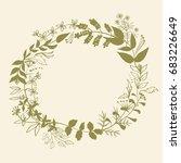 vector pattern green floral...   Shutterstock .eps vector #683226649