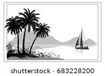 exotic sea landscape  tropical... | Shutterstock .eps vector #683228200