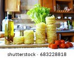 pasta of different varieties... | Shutterstock . vector #683228818