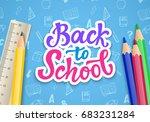 back to school banner template... | Shutterstock .eps vector #683231284