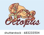 octopus. vector illustrations. | Shutterstock .eps vector #683233504