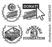 vintage charitable foundation... | Shutterstock . vector #683236420