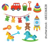 a set of toys for children.... | Shutterstock .eps vector #683236828