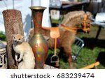 Taxidermy Weasel And Vase....