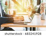 close up of businessman working ... | Shutterstock . vector #683241928