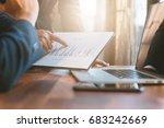 business concept  business man... | Shutterstock . vector #683242669