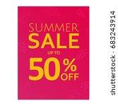 summer sale poster | Shutterstock . vector #683243914