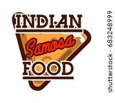 color vintage indian food... | Shutterstock . vector #683248999