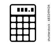 calculator   Shutterstock .eps vector #683249434