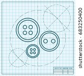 vector blueprint tailor button... | Shutterstock .eps vector #683250400