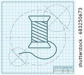 vector blueprint tailor thread...   Shutterstock .eps vector #683250673