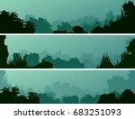set of horizontal banners of... | Shutterstock .eps vector #683251093