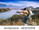 family travel europe. mother... | Shutterstock . vector #683253598