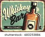 welcome to the whiskey bar ... | Shutterstock .eps vector #683253886