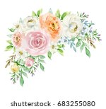 painted watercolor composition... | Shutterstock . vector #683255080